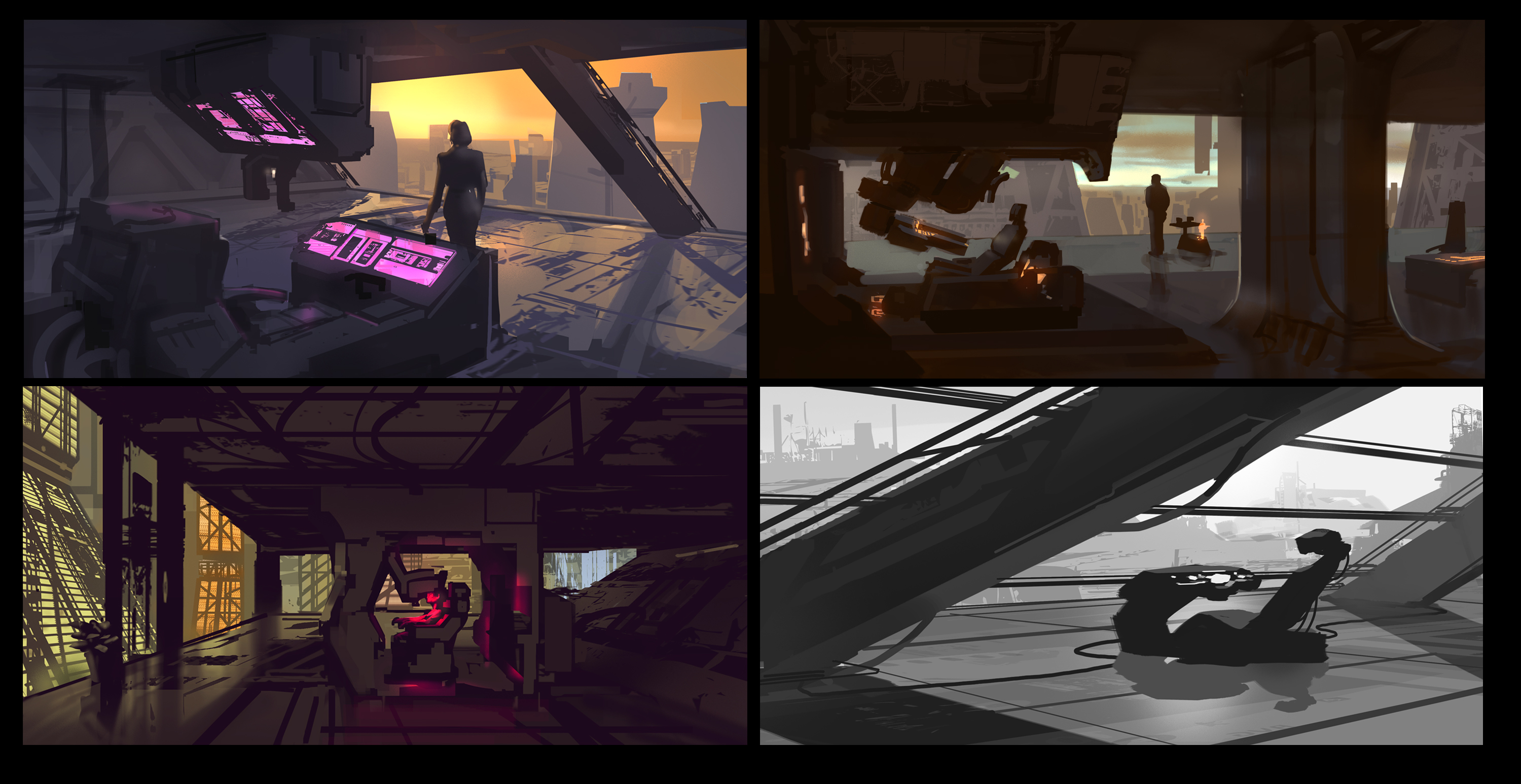 CyberCorp Office Sketches